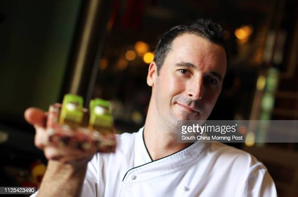 Ask The Foodie portrait of pastry chef Alexis Watrin with desserts 'The Green' Hullett House hotel 1881 Heritage 2A Canton Road TST 24OCT12