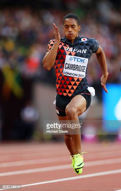 Aska Cambridge of Japan competes in the Men's 100 metres semifinals during day two of the 16th IAAF World Athletics Championships London 2017 at The...