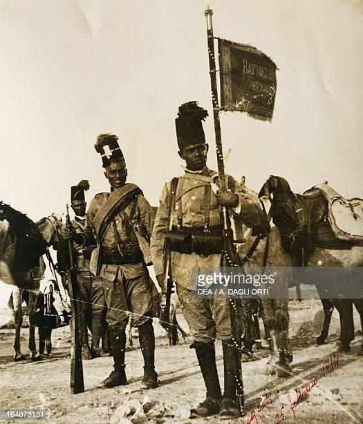 Askari in Benghazi February 25 1914 Military operations in Cyrenaica Libya 20th century Rovereto Castello Museo Storico Italiano Della Guerra