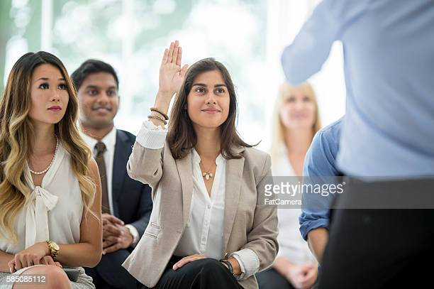 Asking a Question During a Training Program