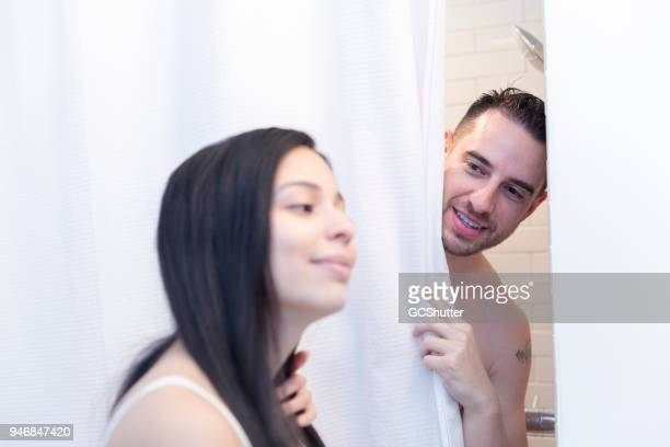 Asking the wife to pass the towel