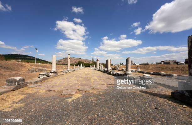 asklepion ancient city, bergama, bergama, izmir. - bergama stock pictures, royalty-free photos & images