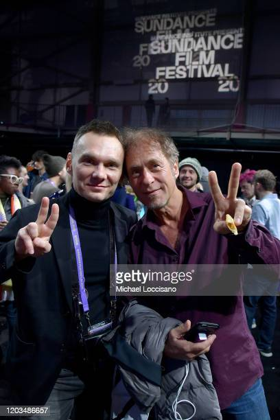 Askold Kurov and Hubert Sauper attends the 2020 Sundance Film Festival Awards Night Party at Basin Recreation Field House on February 01 2020 in Park...
