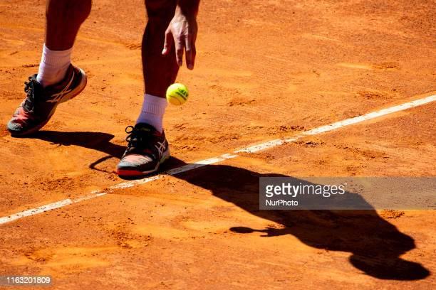 Aslan Karatsev during the match between Guilherme Clezar v Aslan Karatsev at the Internazionali di Tennis Citta' dell'Aquila in L'Aquila, Italy, on...