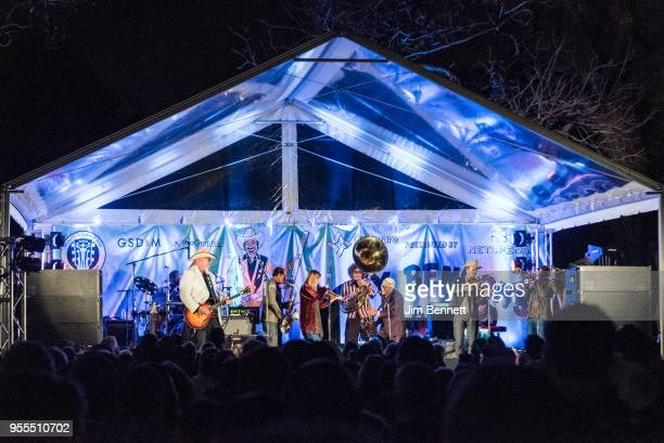 Asleep At The Wheel and Preservation Hall Jazz Band perform live on stage at Ray Benson's 67th birthday party concert benefiting Health Alliance for...