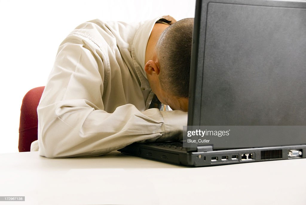 Asleep at work : Stock Photo