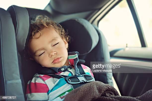 Asleep In His Car Seat