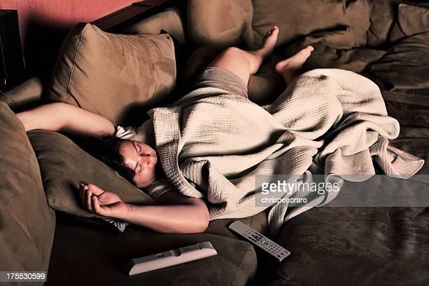 Asleep auf der Couch