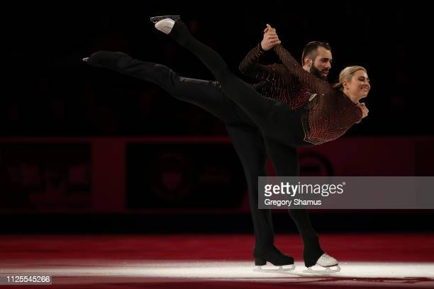 Asley Cain and Timothy LeDuc skate in the skating spectacular after the 2019 US Figure Skating Championships at Little Caesars Arena on January 27...