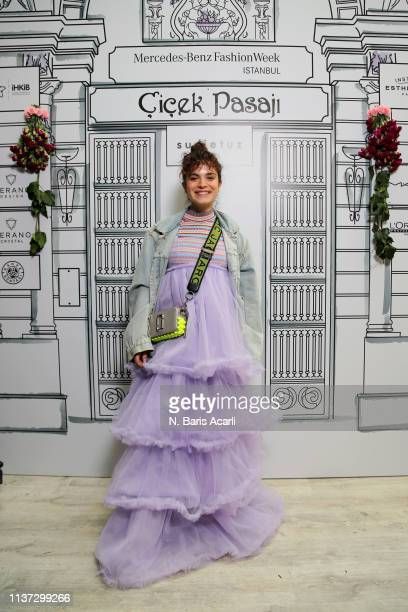 Asli Bekiroglu attends the Sudi Etuz show during MercedesBenz Fashion Week Istanbul March 2019 on March 21 2019 in Istanbul Turkey