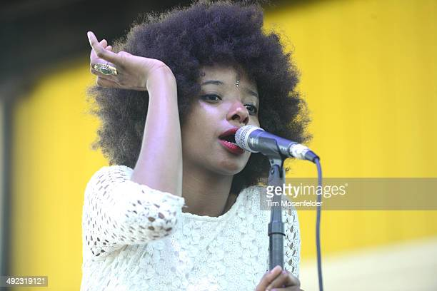 Asli Omar of The Tontons performs during the 2014 Hangout Music Festival at Hangout Beach on May 18 2014 in Gulf Shores Alabama