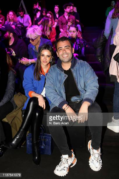 Aslihan Dogan and Mert Vidinli attend the Exquise show during MercedesBenz Fashion Week Istanbul March 2019 at Zorlu Center on March 22 2019 in...