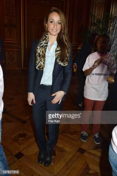 Asllani Kosse attends 'Allez Les Filles' Paris Saint Germain Women Football Team Press Conference at Hotel de Ville on December 4 2012 in Paris France