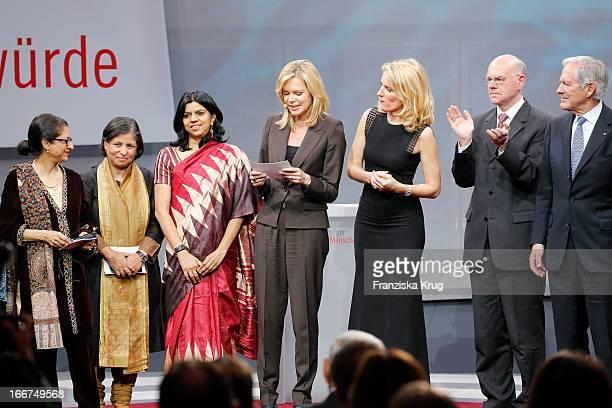 Asma Jahangir Suneeta Dhar Kalpana Viswanath Nina Ruge Maria Furtwaengler Hans Peter Villis and Roland Berger attend the 'Roland Berger Human Dignity...