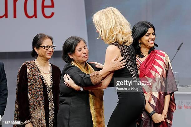 Asma Jahangir Suneeta Dhar Maria Furtwaengler and Kalpana Viswanath attend the 'Roland Berger Human Dignity Award' ceremony at Jewish Museum Berlin...