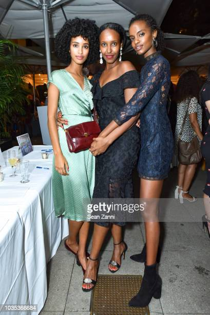 Asmau Ahmed Hawa Hassan and Gbemi Munis attend Touch Foundation's 2018 UNGA KickOff Party at Bryant Park Grill Rooftop on September 17 2018 in New...