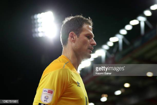 Asmir Begovic of AFC Bournemouth in action during the Sky Bet Championship match between AFC Bournemouth and Bristol City at Vitality Stadium on...