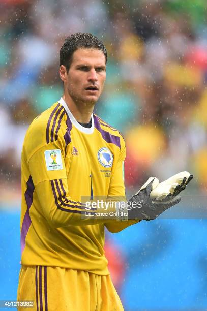 Asmir Begovic of Bosnia and Herzegovina looks on during the 2014 FIFA World Cup Brazil Group F match between Bosnia and Herzegovina and Iran at Arena...