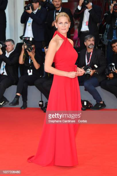 Asne Seierstad walks the red carpet ahead of the '22 July' screening during the 75th Venice Film Festival at Sala Grande on September 5 2018 in...