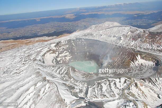 aso caldera - 熊本県 ストックフォトと画像