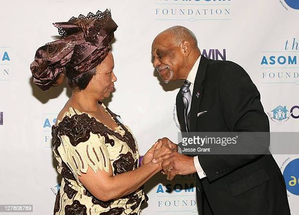 Asomugha Fundation President Dr Lilian Asomugha and Reverend Cecil Murray attend the Fifth Annual Asomugha Foundation Gala held at the Renaissance...