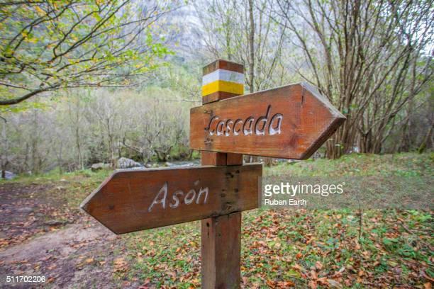 Ason park land mark in Cantabria