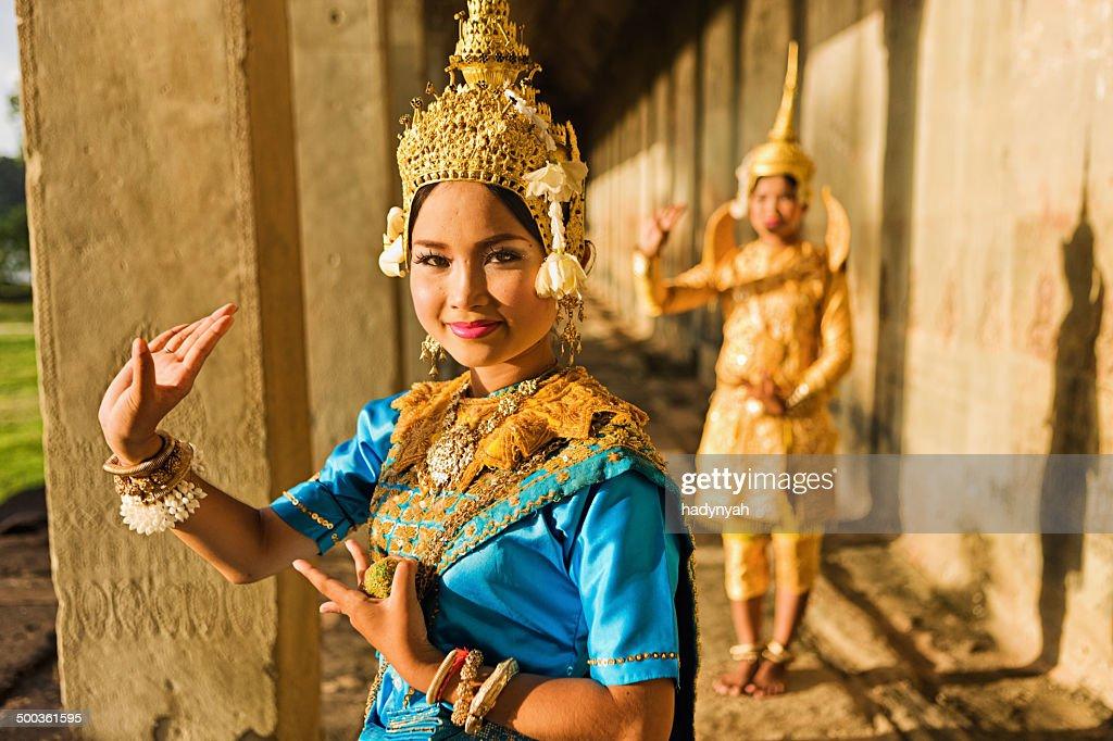 Aspara Dancers at Angkor Wat : Stock Photo