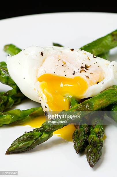 Asparagus and a poached egg