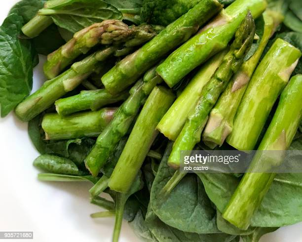 Asparagus and Spinach