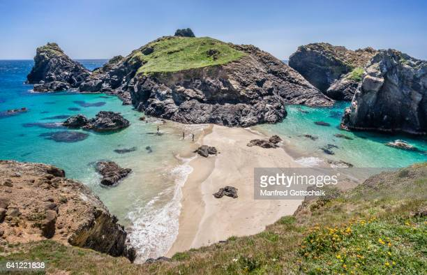 asparagus island kynance cove - sand stock pictures, royalty-free photos & images