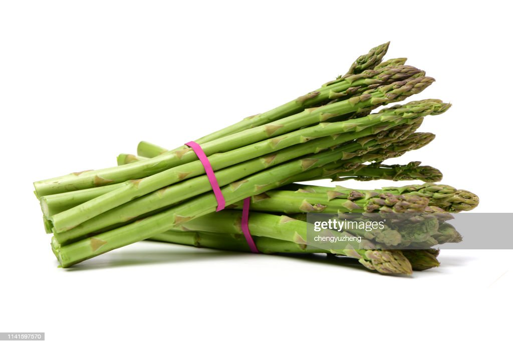 Asparagus on white background : Stock Photo