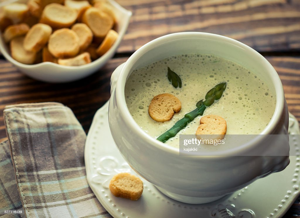 Spargel-Suppe : Stock-Foto