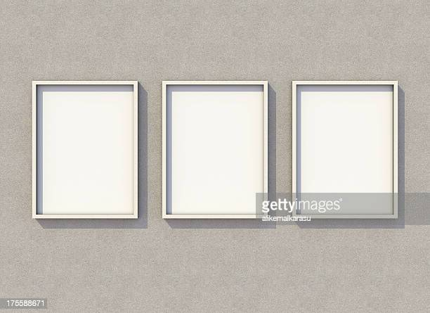 3 4:3 aspect ration blank billboard xxxl on concrete wall - three objects stock pictures, royalty-free photos & images