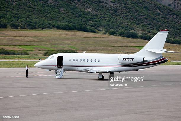 Aspen Airport and Private Jets on the Tarmac