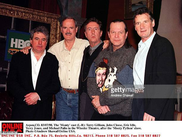 Aspen Co The Monty Cast Terry Gilliam John Cleese Eric Idle Terry Jones And Michael Palin In The Wheeler Theatre After The Monty Python Show