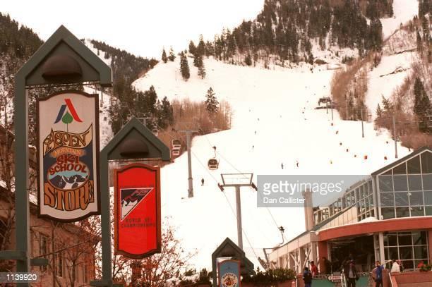 03/24/99 Aspen Colorado General View of shops Aspen Mountain Photo Dan Callister Online Usa Inc