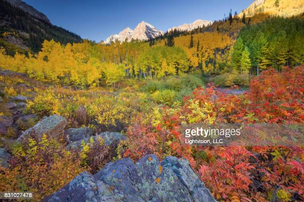 aspen, colorado - maroon bells stock photos and pictures