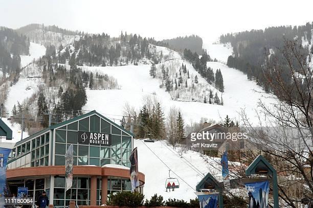 Aspen Mountain during 2006 US Comedy Arts Festival Aspen Atmosphere March 9 2006 in Aspen Colorado United States
