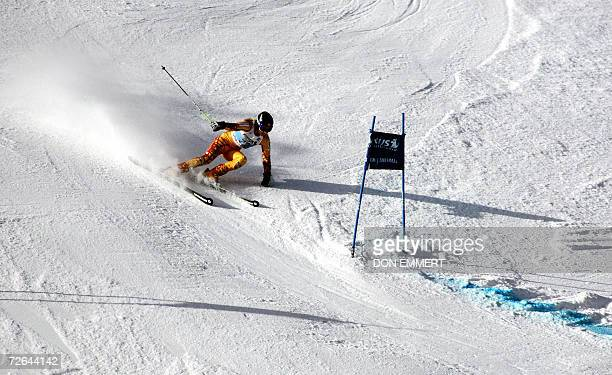 Brigitte Acton of Canada skis in the first run of the World Cup Ladies Giant Slalom 25 November 2006 in Aspen Colorado AFP PHOTO/DON EMMERT