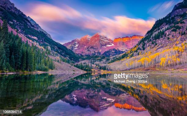 aspen, united states - maroon bells stock photos and pictures