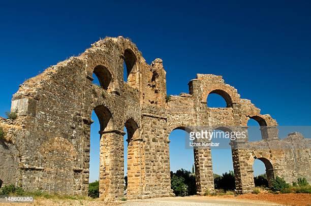 Aspendos Roman acquaduct, Serik.