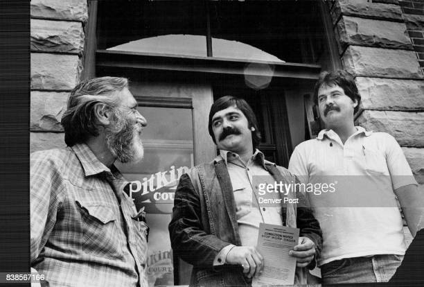 S TOP LAW ENFORCER THE BUILDING INSPECTOR — AND HIS CREW Aspen's gettough building inspection crew includes from left Stan Stevens electrical...