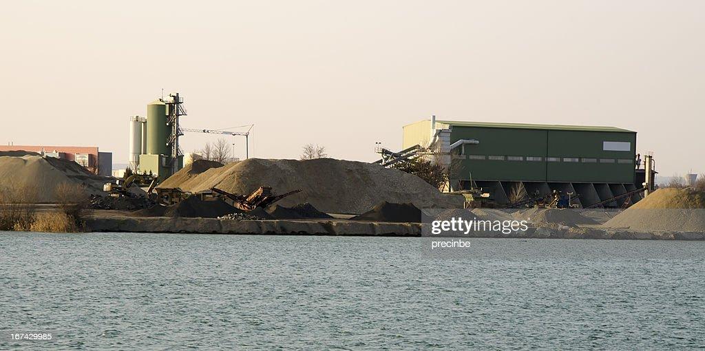 asphalt plant : Stock Photo