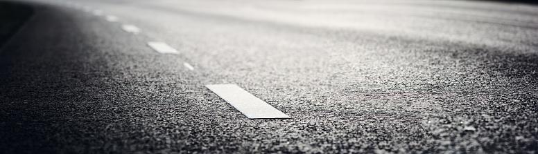 Asphalt road and dividing lines 833130962