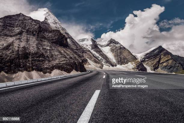 Asphalt Road in front of Snow Mountain