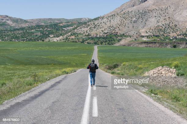 Asfaltweg in Turkije, Anatolische