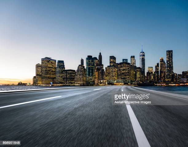 Asphalt Road of Manhattan