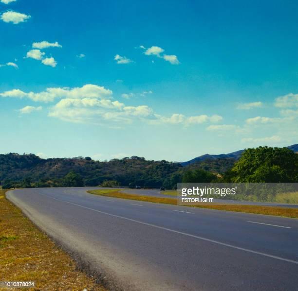 Asphalt road open landscape