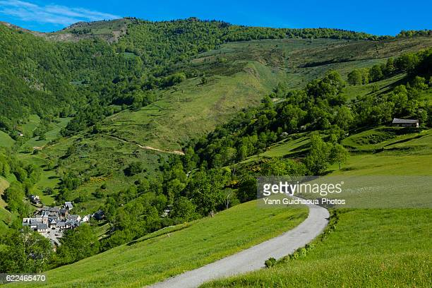Aspin Aure, the road to col d Aspin, national park of Pyrenees, Hautes Pyrenees, France