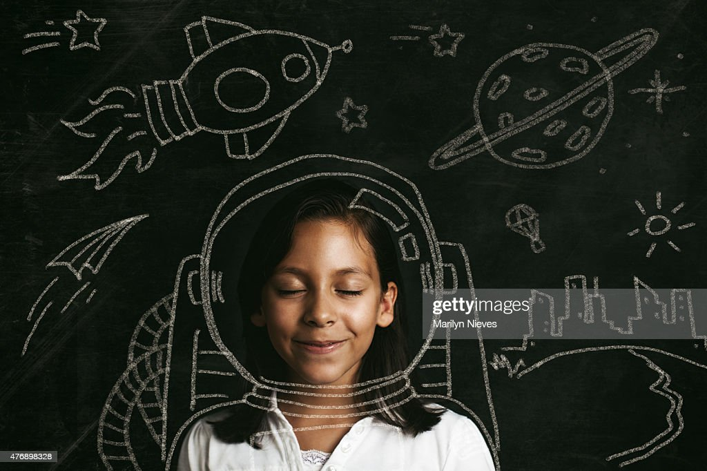 aspirations to be an astronaut : Stock Photo